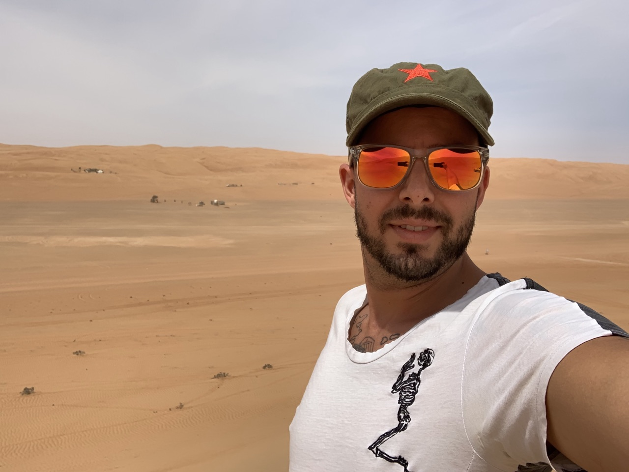 Christoph soaking up some sun in Oman