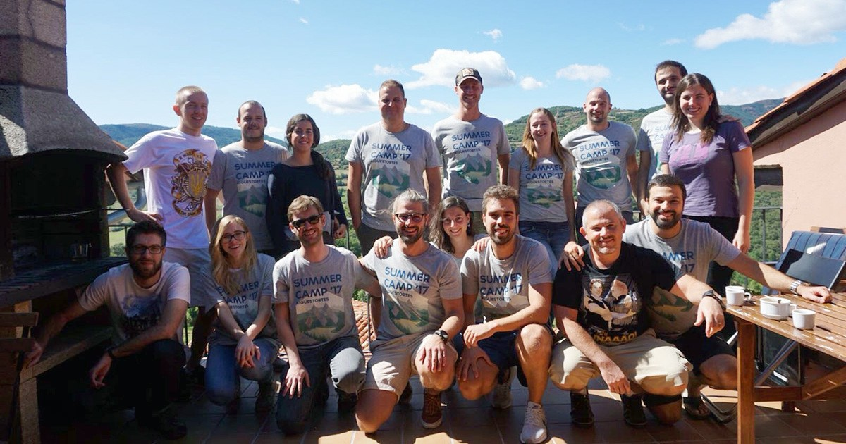 The Mobile Jazz team at one of their 'workation' retreats that brings the remote team together a couple of times a year.