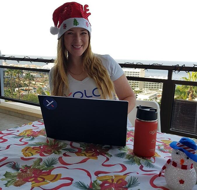 Our accountant Annika decided to take her family to Tenerife for the winter and work from under the palm trees.