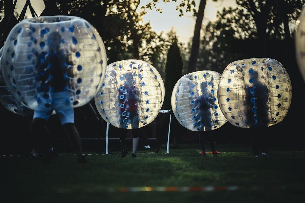 LeapIN team having fun playing bubble football. Photo credit: Erti-Risto Süvari